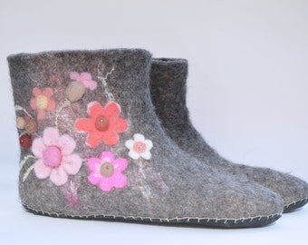Felted Flower Boots