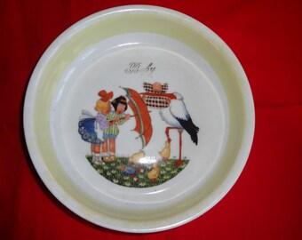 Ceramic Baby Bowl from Epiag D. F. Czechoslovakia