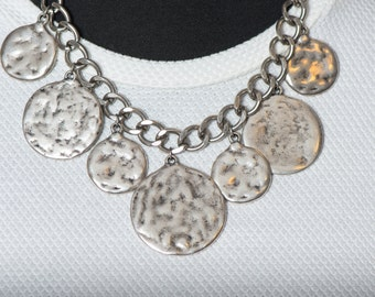 "Model ""coins"" 250 necklace antique silver coins(18gr.)"