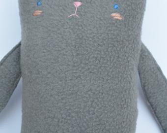 Grey cat plush