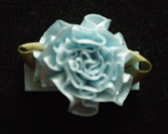 Baby/Toddler/Child Cabbage Rose Snap Hair Clip - 30 mm - 3 cm - Blue
