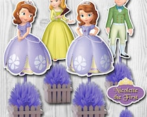 Sofia the First Centerpiece, Sofia the First Cake Toppers, Double-Sided, 2 Sizes, DIGITAL FILE, You Print