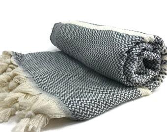 Turkish Towel Turkish Hammam 100 Cotton Peshtemal Yoga Pestemal Otentik Black