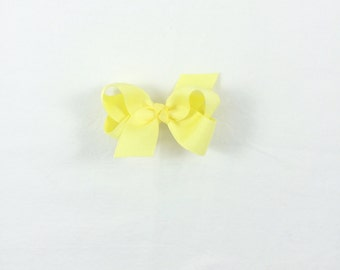 Petite Pastel Yellow Bow