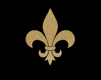 Fleur De Lis Decal created in Glitter Vinyl!  Choice of Sizes, Car Decal, Cell Phone Decal, Notebooks, Perfect for Wall Decor or Accenting!