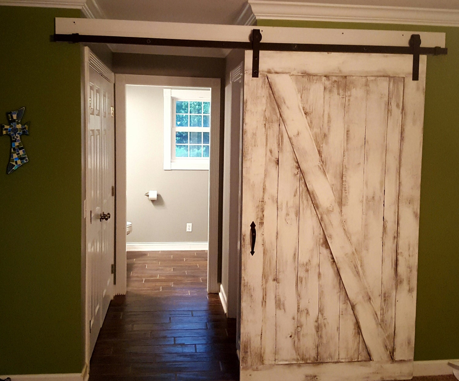 Chippy Barn Door Farmhouse Decor Sliding Door