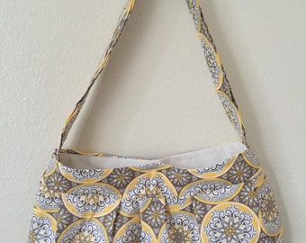 Cute yellow and gray purse just in time for spring
