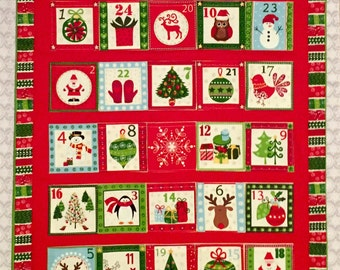 Christmas Advent Calendar Wall Hanging - Made to Order
