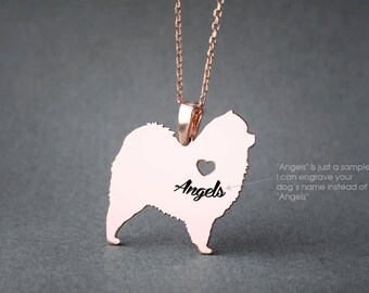 CHOW CHOW NAME Necklace - Chow Chow Name Necklace - Personalised Necklace - Dog breed Necklace - Dog Necklace