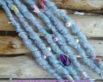 3 Mermaid Dreads, Unicorn Dreads, Pastel Dreads, Synthetic Dreads, Dread Extensions, Synthetic Dreadlocks, Festival Dreads, Fake Dreads