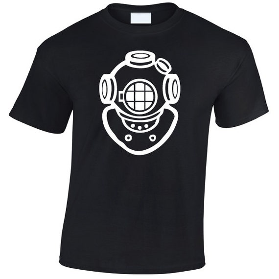 Vintage Diving Helmet T-Shirt. Diver, Diving, Scuba, Open Water, Deep Sea. Fathers Day, Mothers day, Birthday Gift or Present