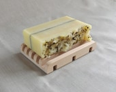 Gift Set: Peppermint Tea All-Natural Soap with Wooden Soap Dish