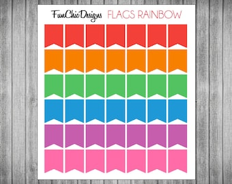 Mini Rainbow Flag Planner Stickers - Multiple Color Options