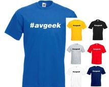 Avgeek #avgeek Mens/Adults Novelty Tshirt - Funny/Joke/Gift/Present/Secret Santa/Plane Spotter/Fan/Aviation/Aircraft/Spotting