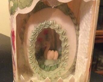 Vintage 1994 Diorama Panoramic Easter Sugar Egg Swan in Original Box M Dottie Egan Ralphs