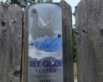 Large upcycled Grey Goose vase