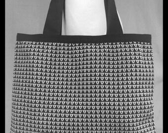 Algiz Rune,Kimono Vintage fabric ,Tote Bag ,Shopping Bag.