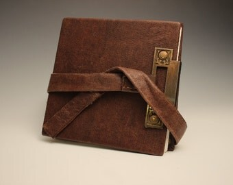 Handmade Leather Journal With Brass Fixing