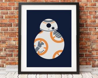 Star Wars BB8 Minimalist Print