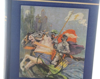 1948 My Book House - In Shining Armor Hardback Children's Story Book -- Knight, Tennyson, Shakespeare, Cervantes -- Fairy, Tales -- 1940's