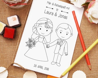 "Coloring book PDF ""Lovely"" gift wedding"