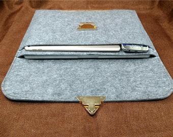 """Macbook Pro 13"""", laptop case 15.6 ,Macbook air case, 13 inch  laptop sleeve, 13 """"macbook pro ,Felt laptop sleeve, Cork laptop case, B4D16"""