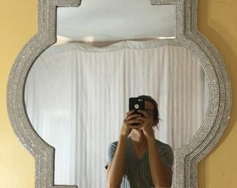 Rhinestone Wall Mirror fancy mirror | etsy
