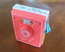 Vintage Fisher Price Music Box Pocket Radio Jack and Jill 772 1973