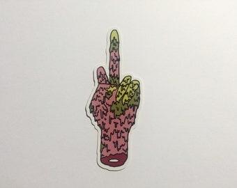 ANGRY HAND Vinyl Gloss Artist Sticker