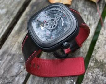 Dark Brown Shell Cordovan Watch Strap