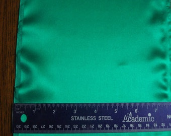 100% Silk Charmeuse - Plain - Emerald Green