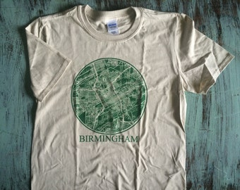 Birmingham Alabama City Grid T-Shirt