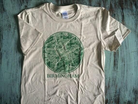 birmingham alabama city grid t shirt
