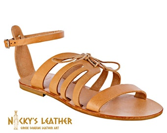 GREEK SANDALS  from 100% Full Grain Leather Handmade