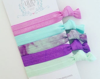 Tie dye hair ties