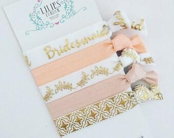 Bridesmaid hair ties