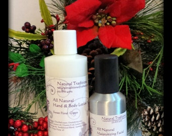 All Natural Lotion, Toner, and Chapstick Set