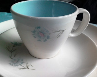 "Taylor Smith Taylor ""Ever Yours"" Cup & Saucers - Set of Two. PRICE BREAK on Multiples!"