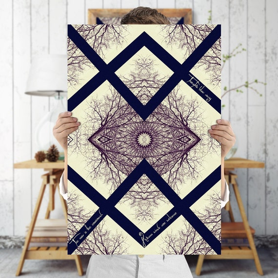 Baroque Mandala Art Print Indie Wall Art Tree by TreeomStudio