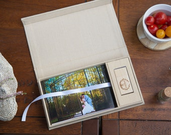 Linen USB Photo Box