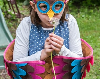 Magical Owl Costume, Wings and Mask: Soft flappable wings, made from recycled plastic bottles