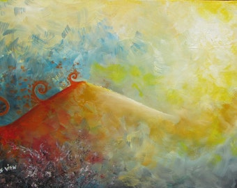 ILLUMINATION - 15''x 23''  Oil Colors on Canvas Painting