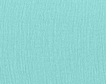 BUBBLE GAUZE: Michael Miller Aqua bubble gauze. Sold by the 1/2 yard