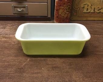 Vintage Pyrex Loaf Dish Green