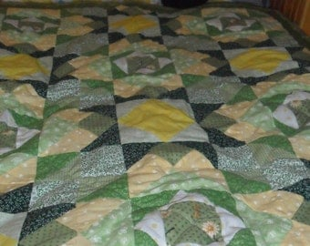 Seeing Green Quilted Throw