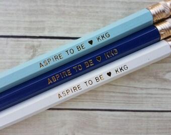 "KAPPA KAPPA GAMMA ""Aspire to Be"" 3 Pack Pencil Set"