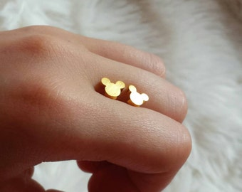 Gold Mickey Mouse earrings