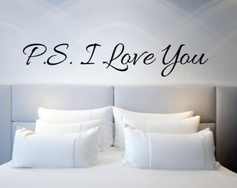 "Wall Sticker Quote""P.S I love you"" 