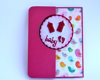 Baby girl welcome card / Baby shower/ New baby