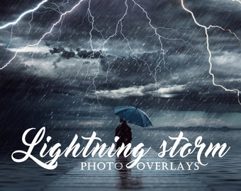 Lightning storm Photo Overlays